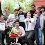 Команда ВГАУ после победного выступления на областной студенческой весне